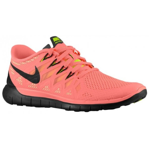 Nike Free 5.0 2014 Femmes chaussures de course ros...