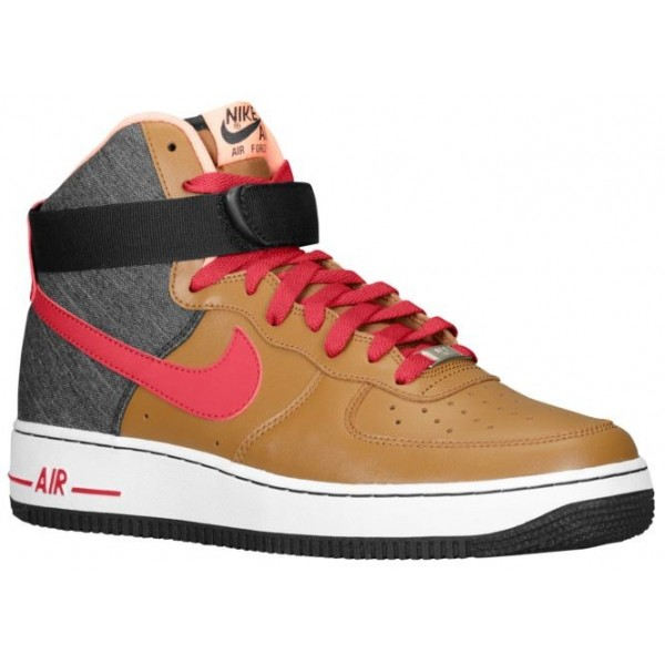 Nike Air Force 1 High Leather Hommes baskets marro...