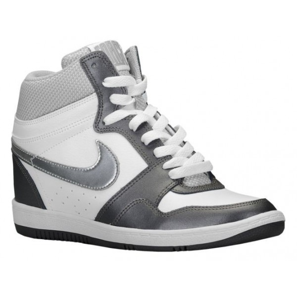 Nike Force Sky High Femmes chaussures blanc/gris Z...