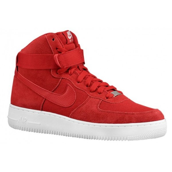 Nike Air Force 1 High Hommes baskets rouge/blanc G...