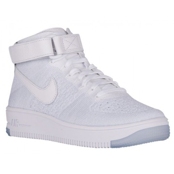 Nike Air Force 1 Hi Flyknit Femmes baskets blanc/g...