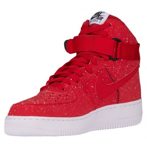 Nike Air Force 1 High Hommes chaussures rouge/blanc PTH824