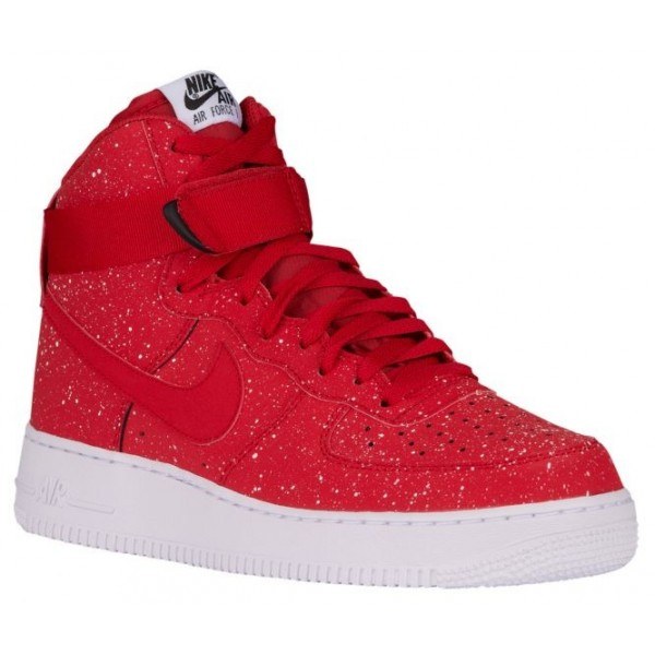 Nike Air Force 1 High Hommes chaussures rouge/blan...