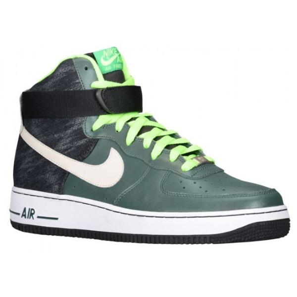 Nike Air Force 1 High Leather Hommes baskets vert/...
