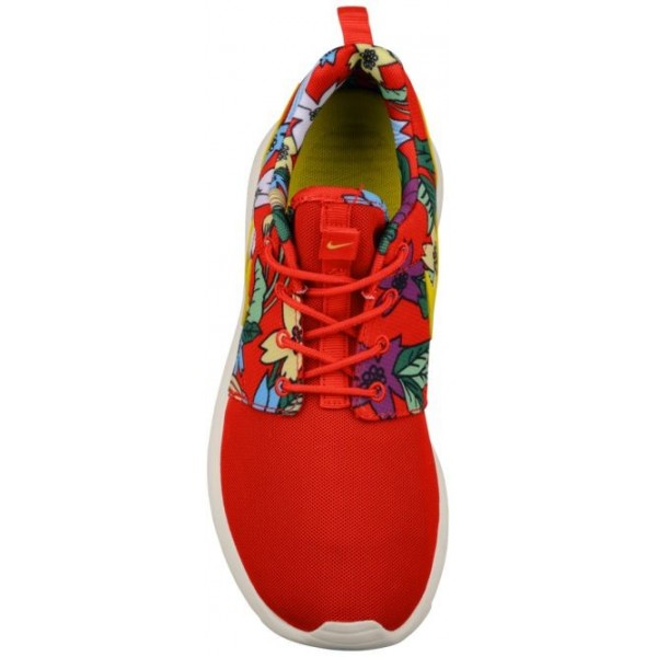 Nike Roshe One Aloha Print Femmes chaussures de course rouge/blanc NFS572