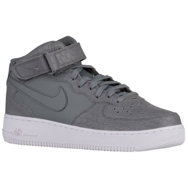 Nike Air Force 1 Mid Hommes baskets gris/blanc XZY...
