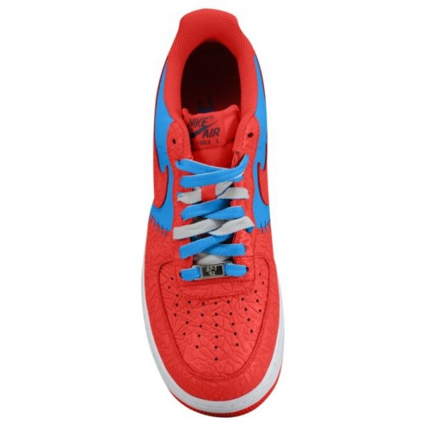 Nike Air Force 1 Low Leather Hommes baskets rouge/bleu clair OCY314