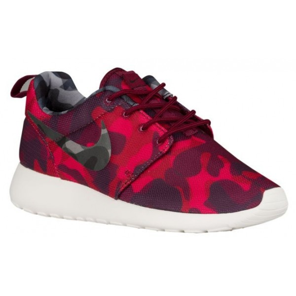 Nike Roshe One Camo Print Femmes chaussures rouge/...