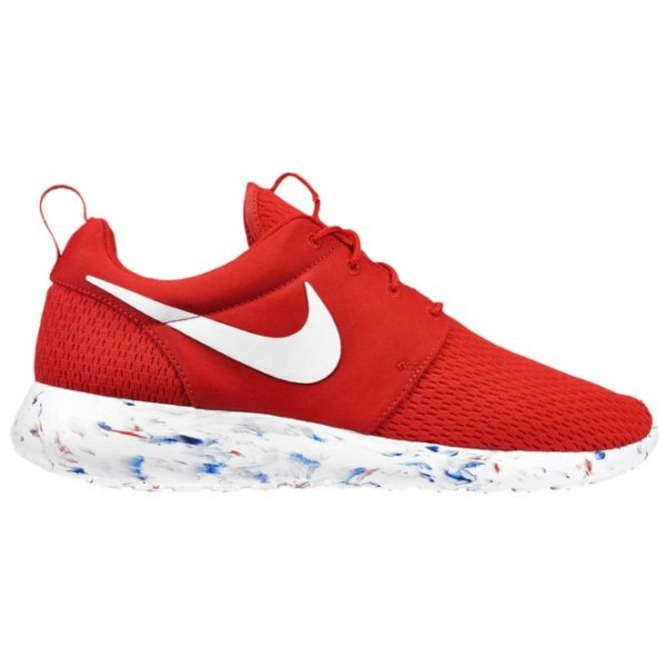 Nike Roshe One Hommes chaussures de course rouge/b...