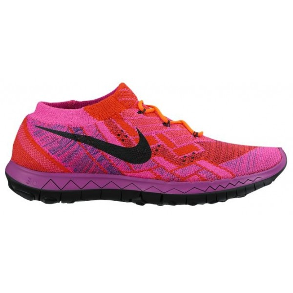 Nike Free 3.0 Flyknit Femmes chaussures rose/Orang...