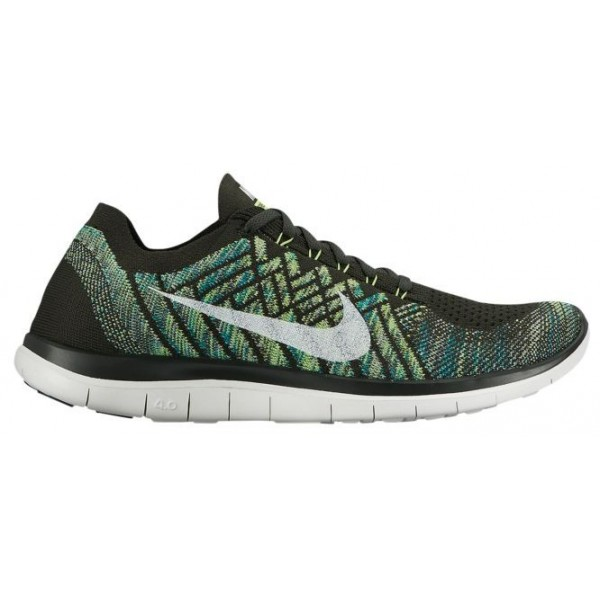 Nike Free 4.0 Flyknit 2015 Hommes sneakers olive v...