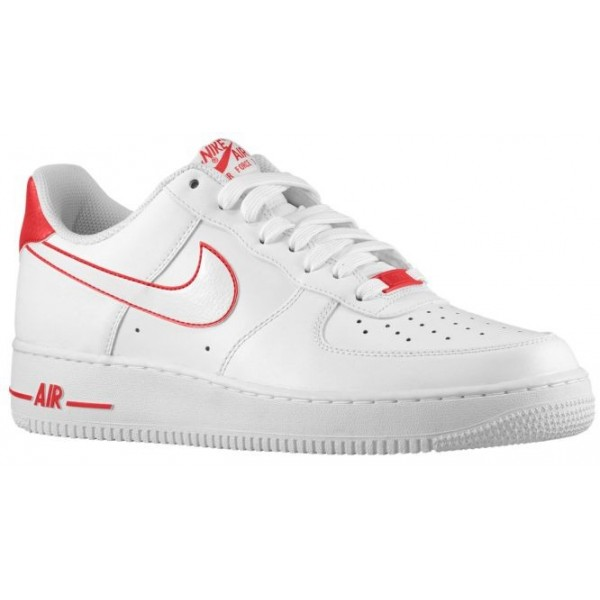 Nike Air Force 1 Low Hommes baskets blanc/rouge VU...