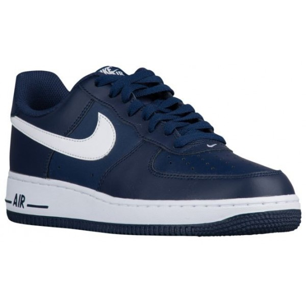 Nike Air Force 1 Low Hommes baskets bleu marin/bla...